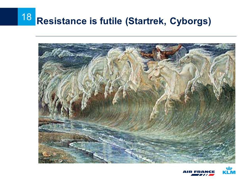 Resistance is futile (Startrek, Cyborgs)