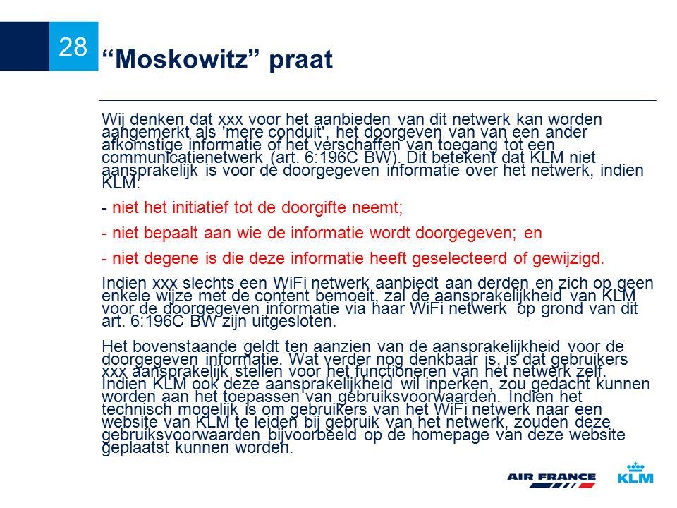 Moskowitz praat