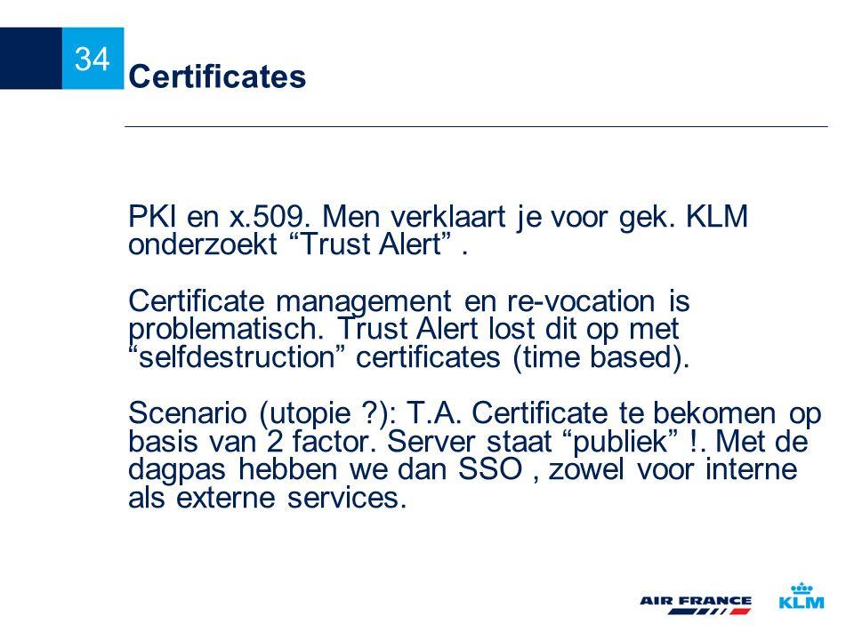 Certificates PKI en x.509. Men verklaart je voor gek. KLM onderzoekt Trust Alert .