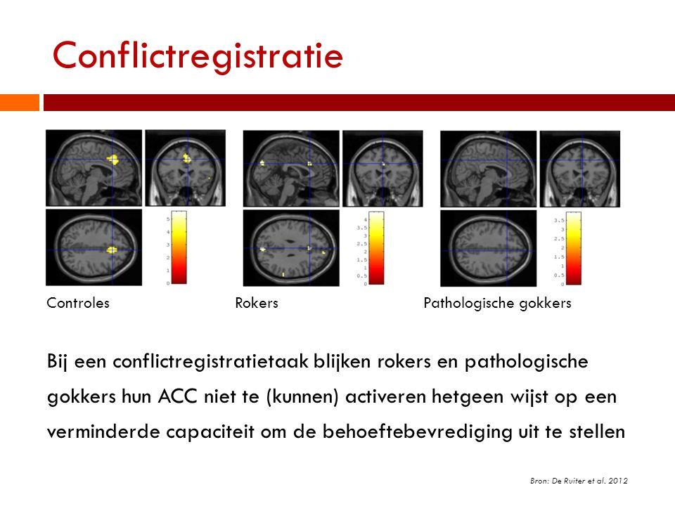 Conflictregistratie Controles Rokers Pathologische gokkers.