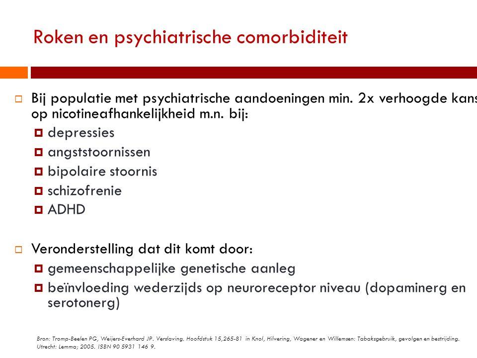 Roken en psychiatrische comorbiditeit