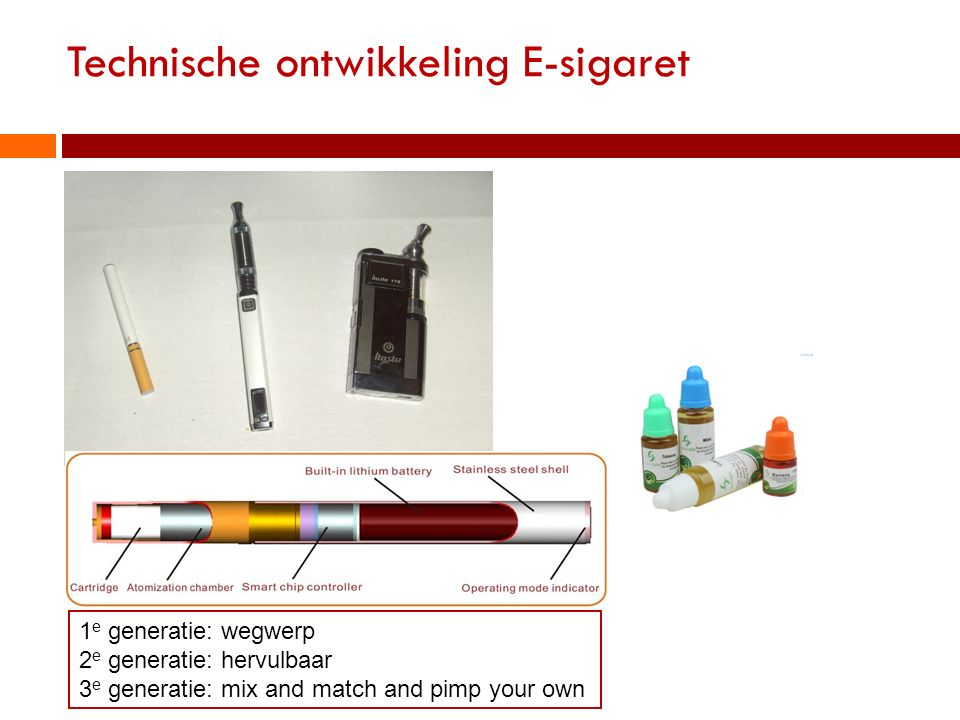 Technische ontwikkeling E-sigaret