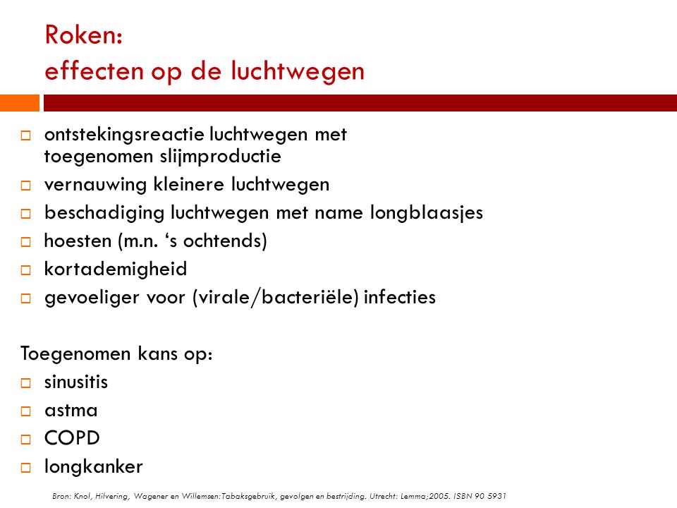 Roken: effecten op de luchtwegen