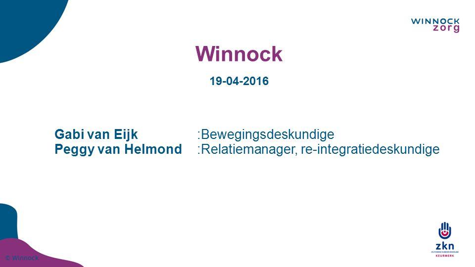 Winnock Gabi van Eijk :Bewegingsdeskundige