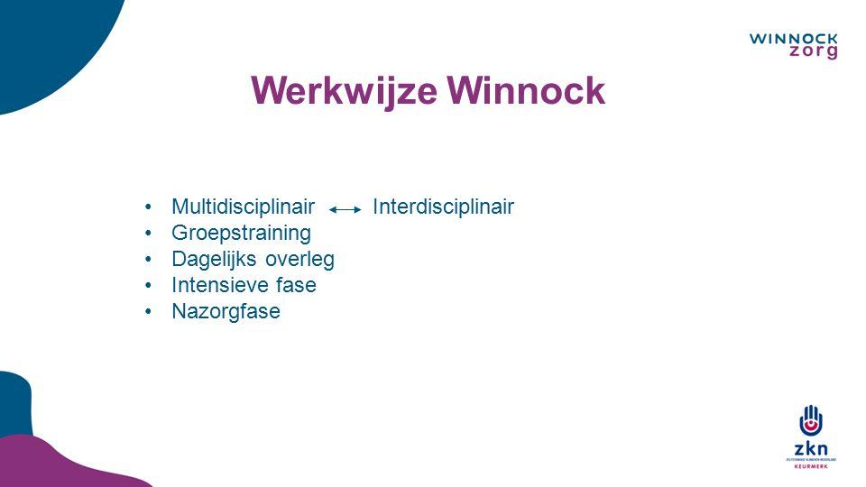 Werkwijze Winnock Multidisciplinair Interdisciplinair Groepstraining