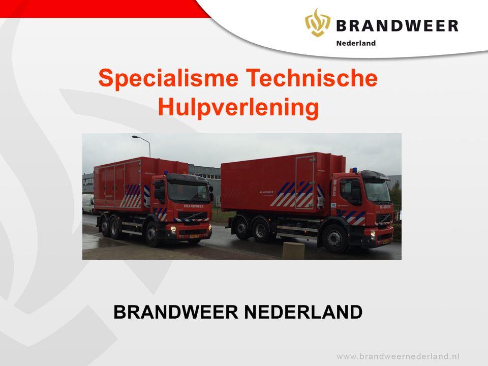 Specialisme Technische Hulpverlening BRANDWEER NEDERLAND