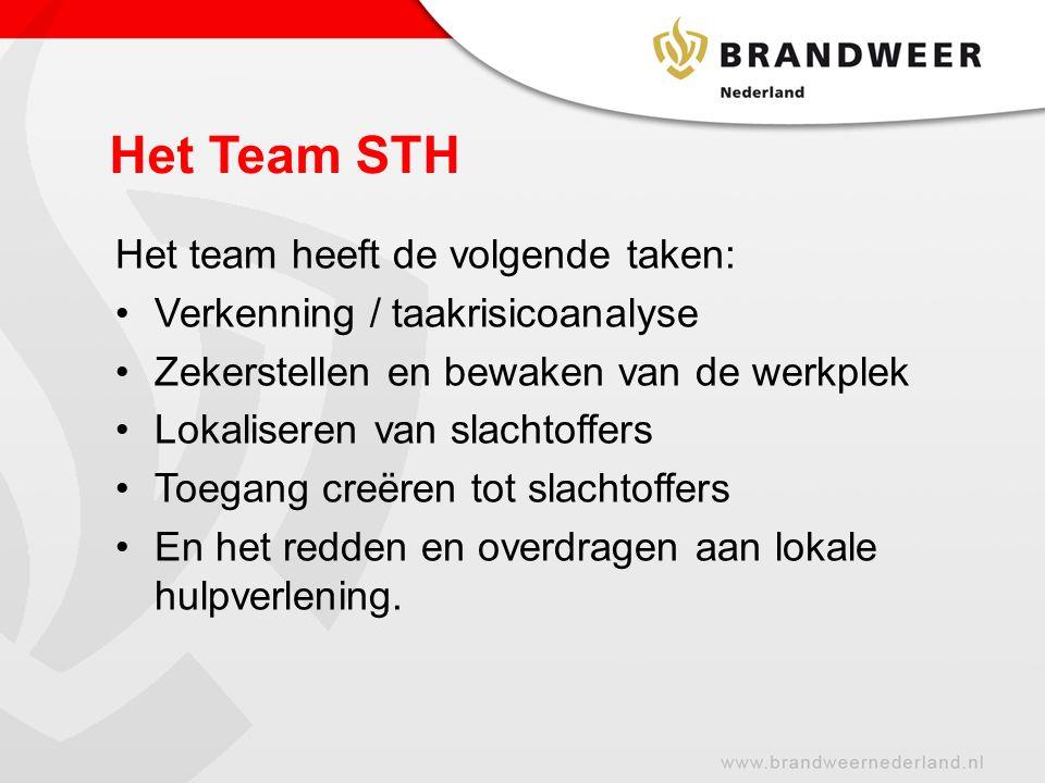 Het Team STH Het team heeft de volgende taken: