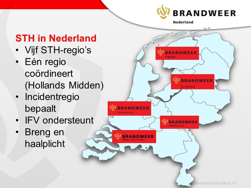 Eén regio coördineert (Hollands Midden)