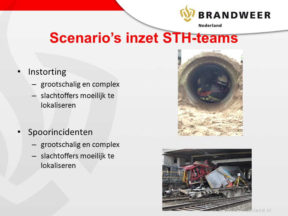 Scenario's inzet STH-teams