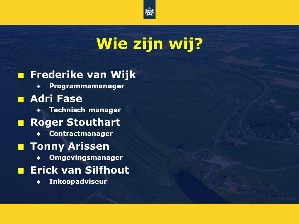 Wie zijn wij Frederike van Wijk Adri Fase Roger Stouthart
