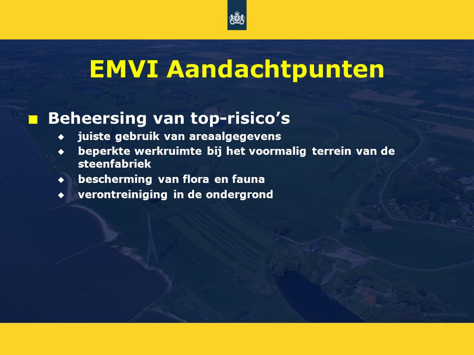 EMVI Aandachtpunten Beheersing van top-risico's
