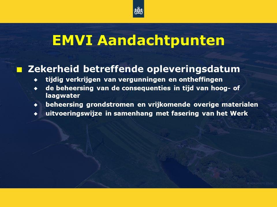 EMVI Aandachtpunten Zekerheid betreffende opleveringsdatum