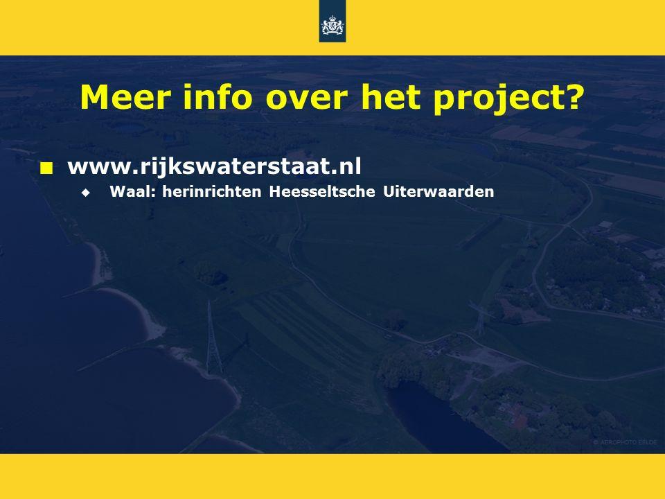 Meer info over het project