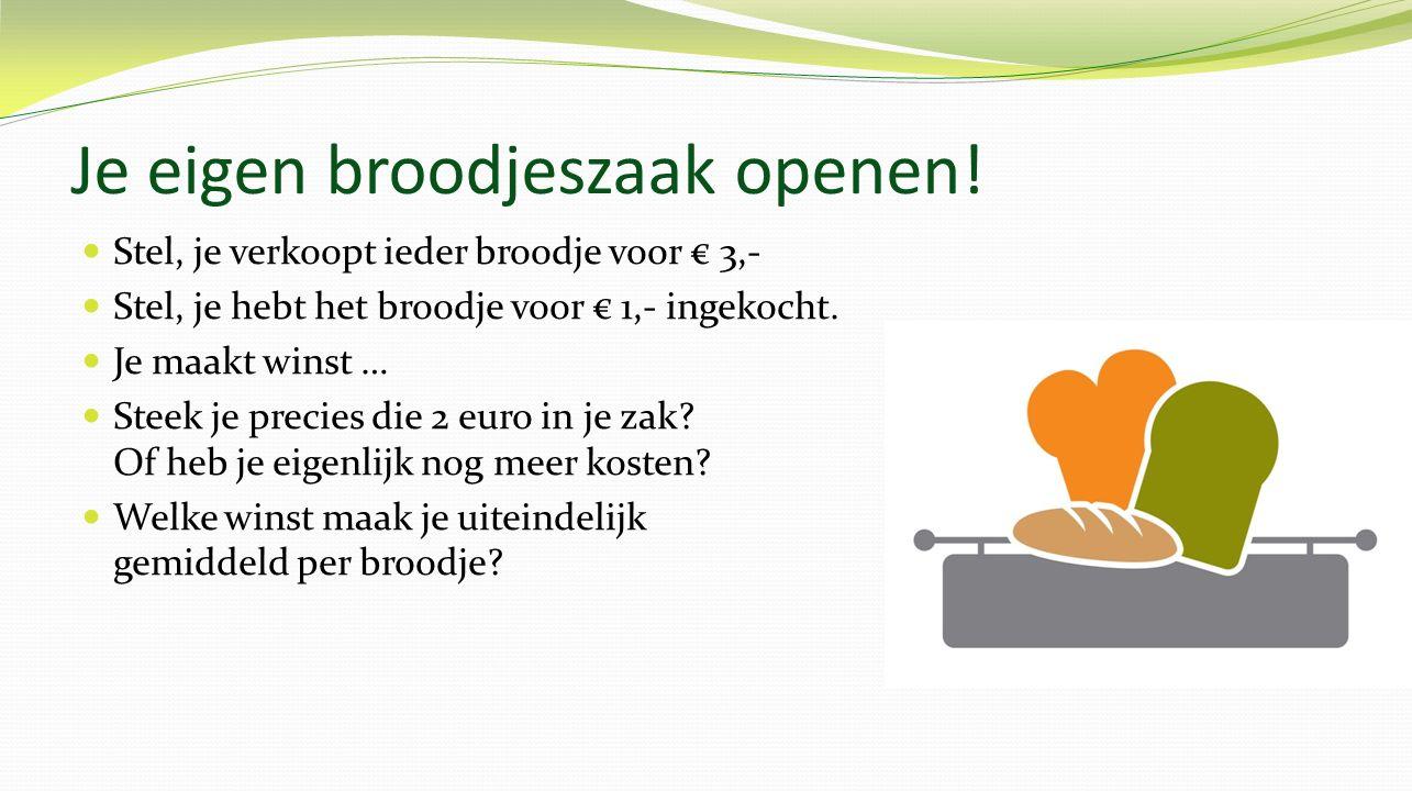 Je eigen broodjeszaak openen!