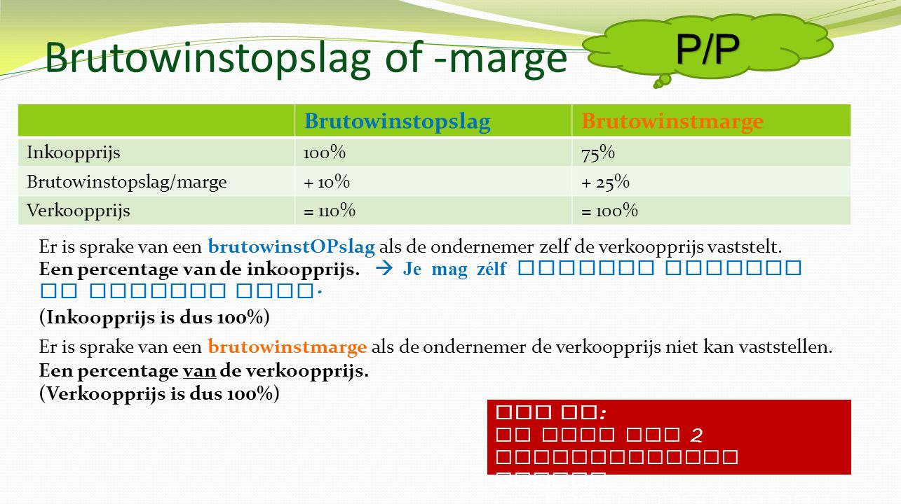 Brutowinstopslag of -marge