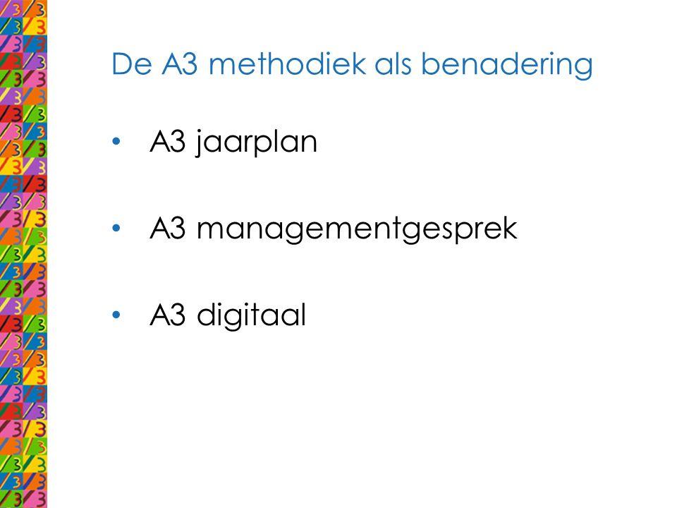 De A3 methodiek als benadering