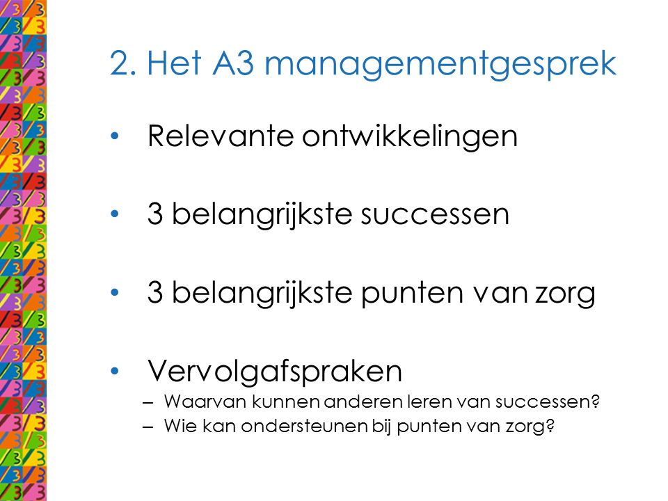 2. Het A3 managementgesprek