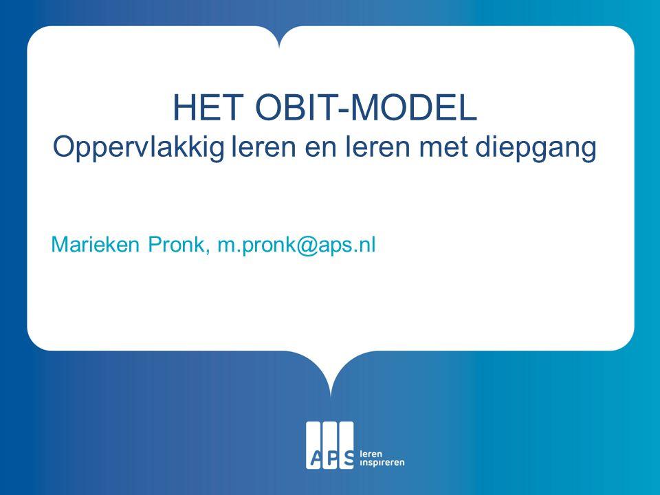 Het OBIT-model Oppervlakkig leren en leren met diepgang
