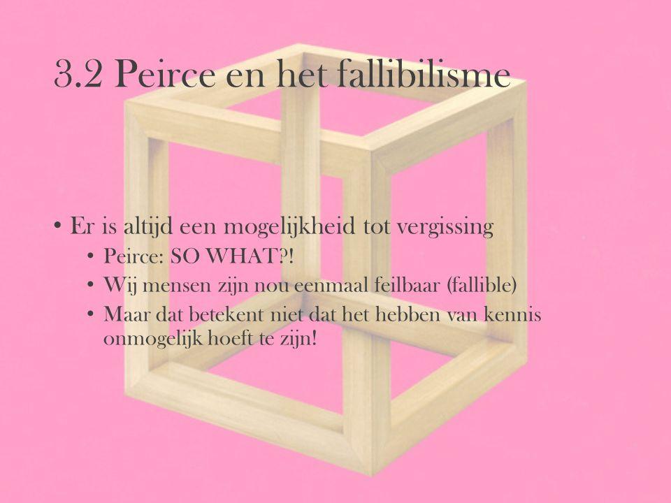 3.2 Peirce en het fallibilisme