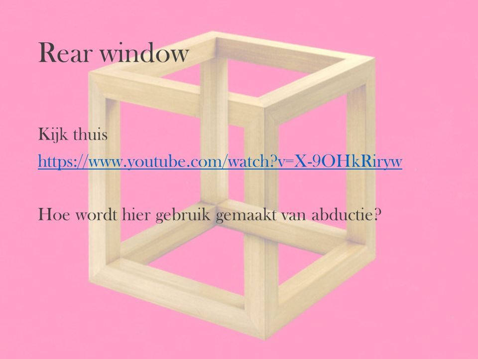 Rear window Kijk thuis https://www.youtube.com/watch v=X-9OHkRiryw