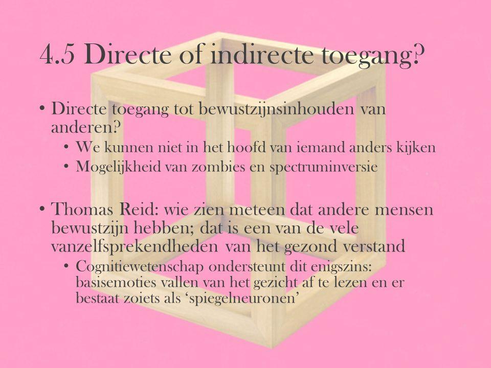 4.5 Directe of indirecte toegang