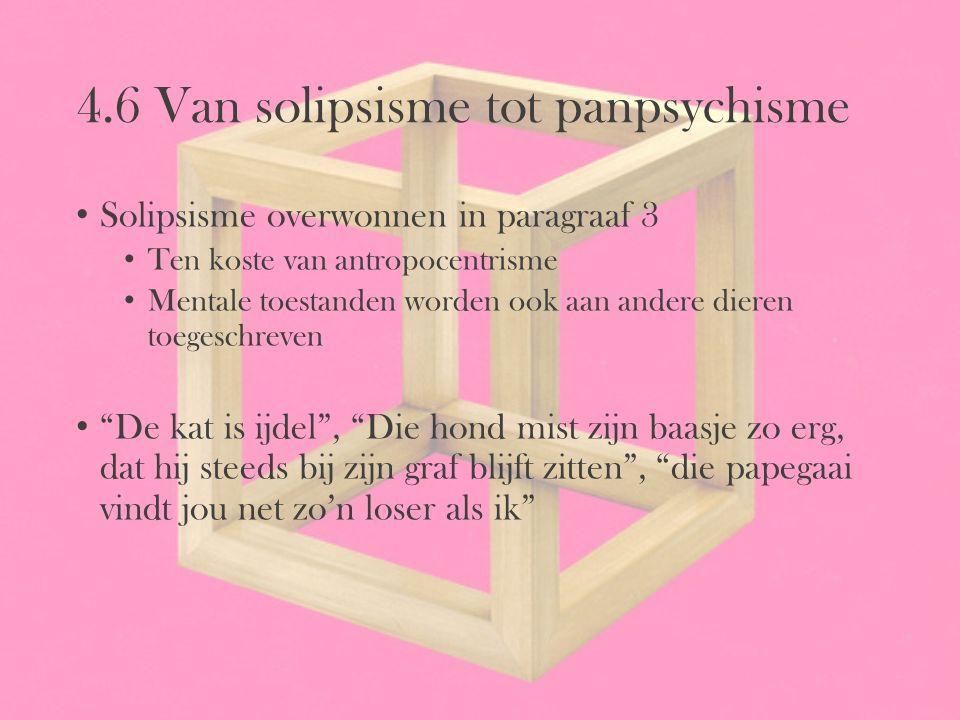 4.6 Van solipsisme tot panpsychisme