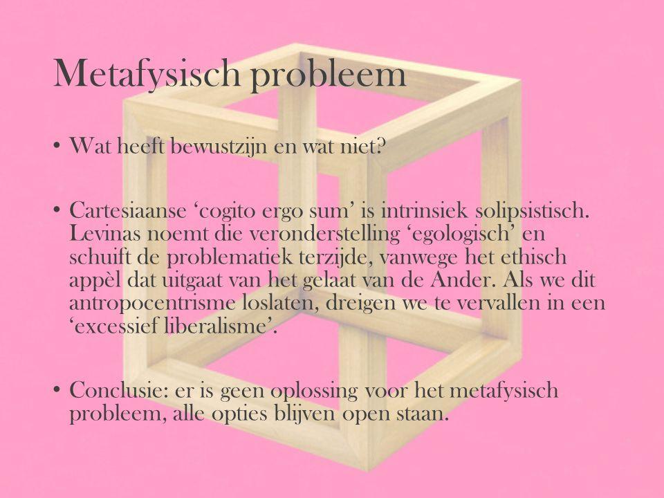 Metafysisch probleem Wat heeft bewustzijn en wat niet