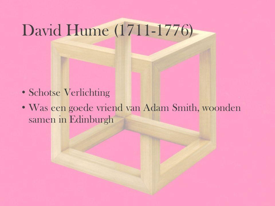 David Hume (1711-1776) Schotse Verlichting