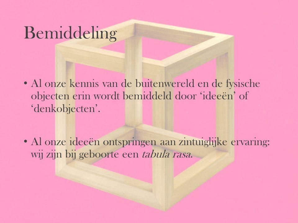 Bemiddeling Al onze kennis van de buitenwereld en de fysische objecten erin wordt bemiddeld door 'ideeën' of 'denkobjecten'.
