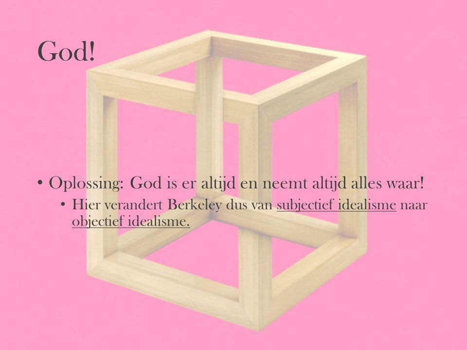 God! Oplossing: God is er altijd en neemt altijd alles waar!
