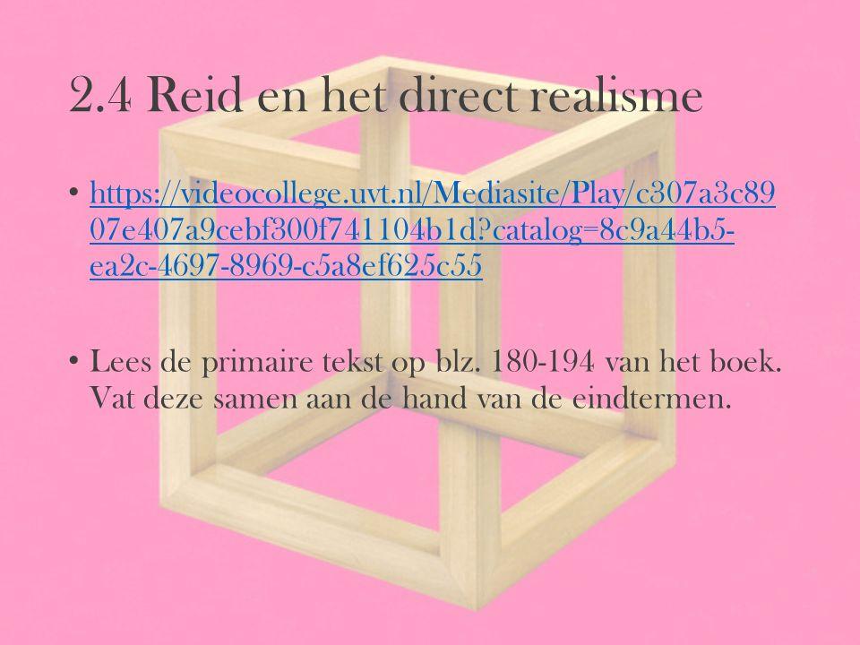 2.4 Reid en het direct realisme