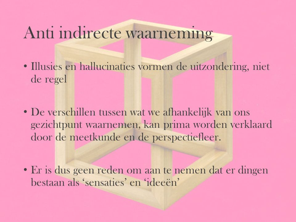 Anti indirecte waarneming