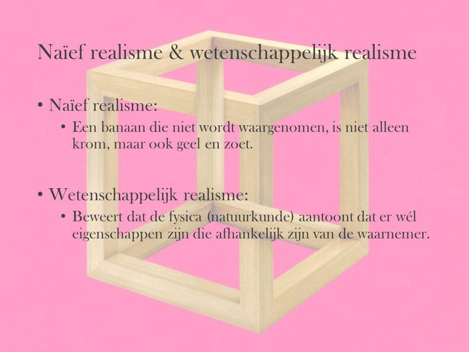Naïef realisme & wetenschappelijk realisme