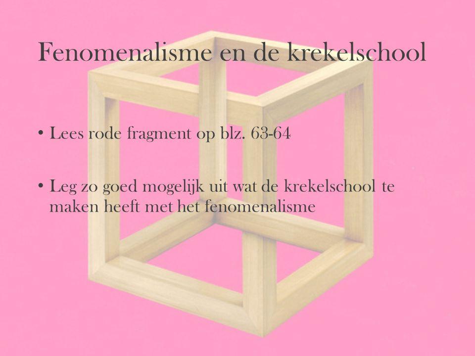 Fenomenalisme en de krekelschool