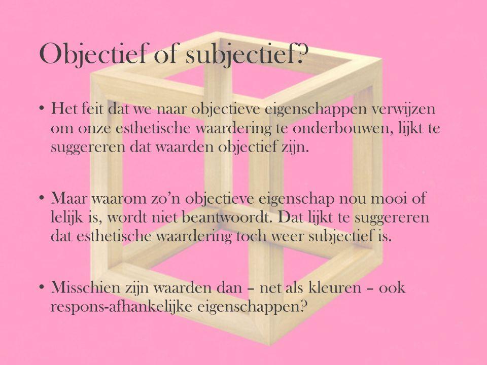 Objectief of subjectief