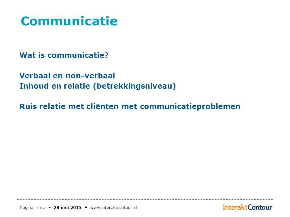 Communicatie Wat is communicatie Verbaal en non-verbaal