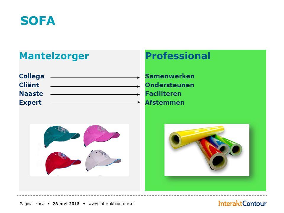 SOFA Mantelzorger Professional Collega Cliënt Naaste Expert