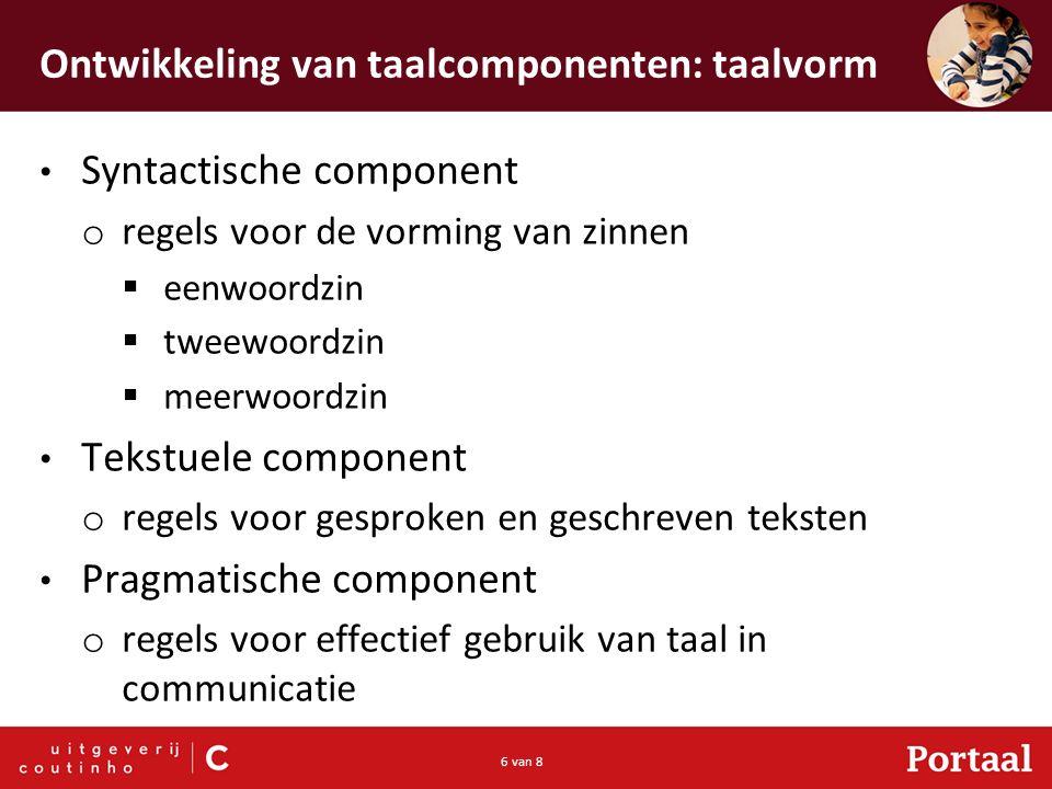 Ontwikkeling van taalcomponenten: taalvorm