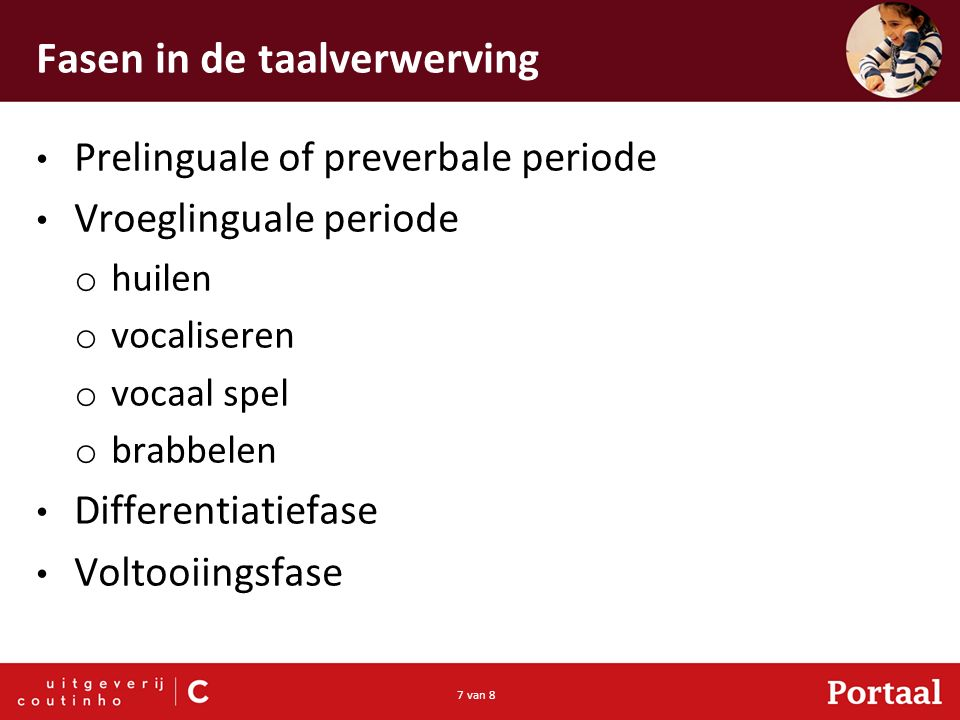 Fasen in de taalverwerving