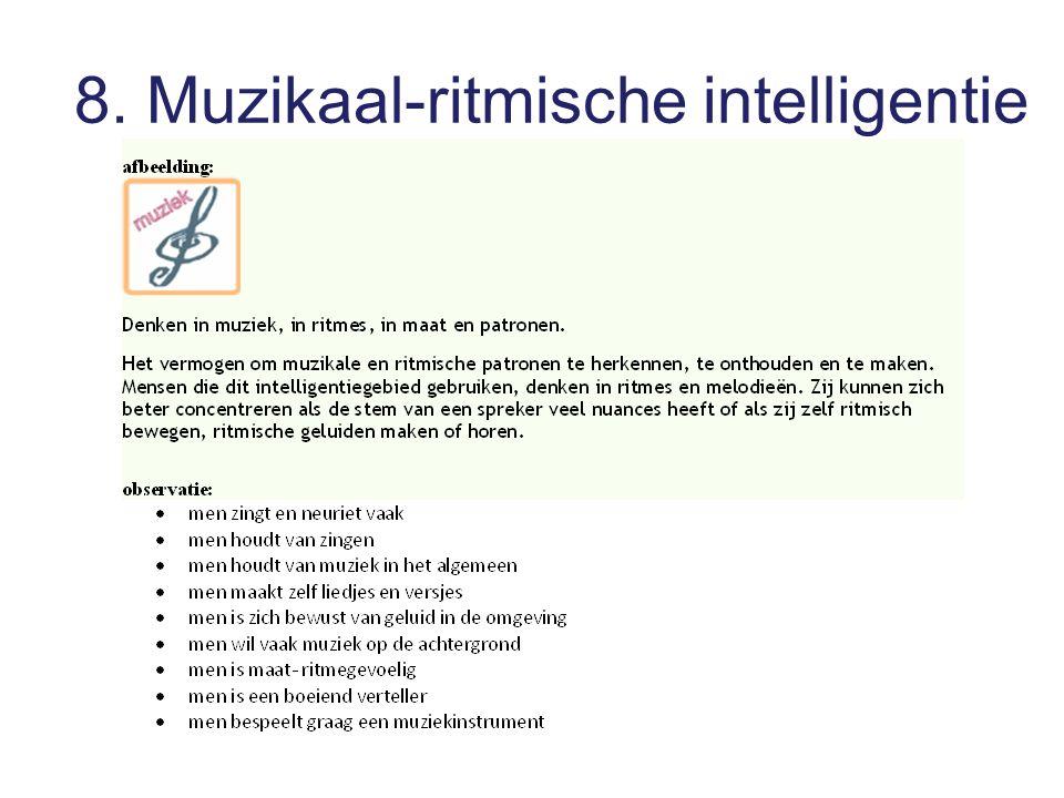 8. Muzikaal-ritmische intelligentie