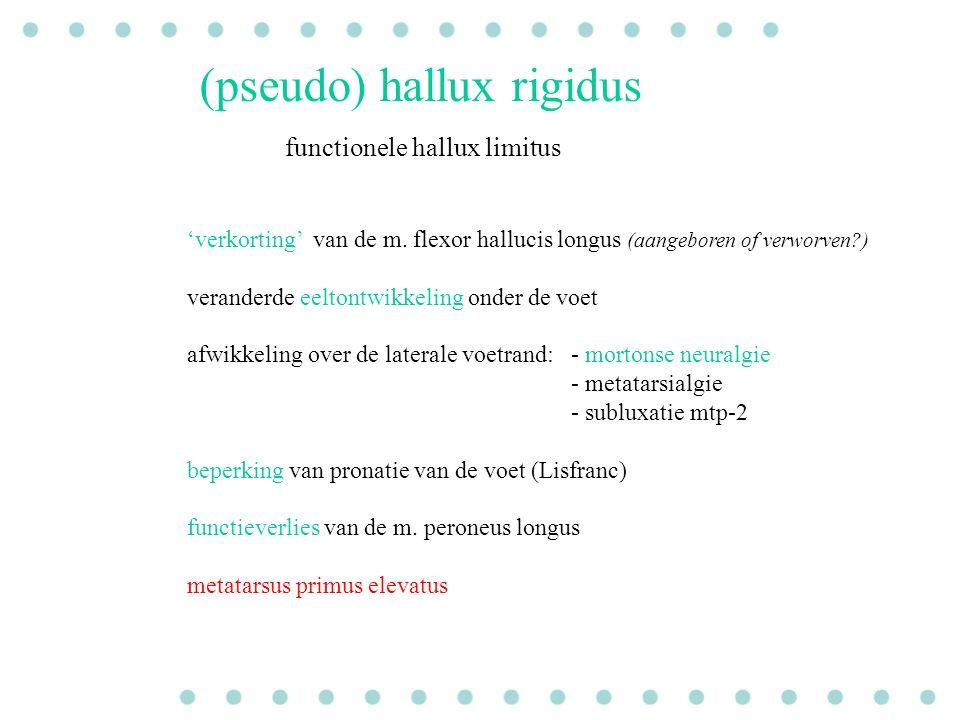 (pseudo) hallux rigidus