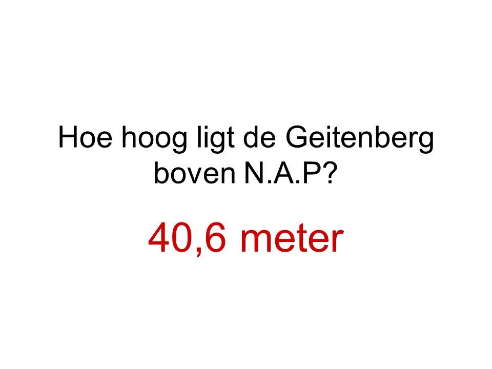 Hoe hoog ligt de Geitenberg boven N.A.P
