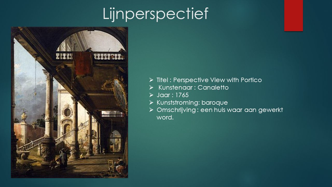 Lijnperspectief Titel : Perspective View with Portico