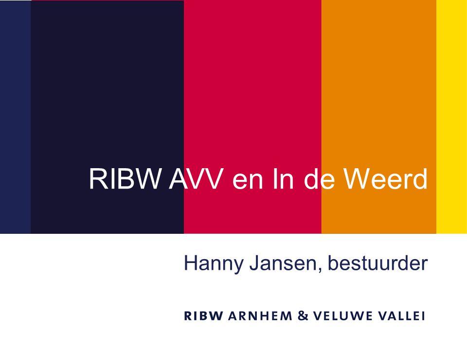 Titel van de presentatie RIBW AVV en In de Weerd