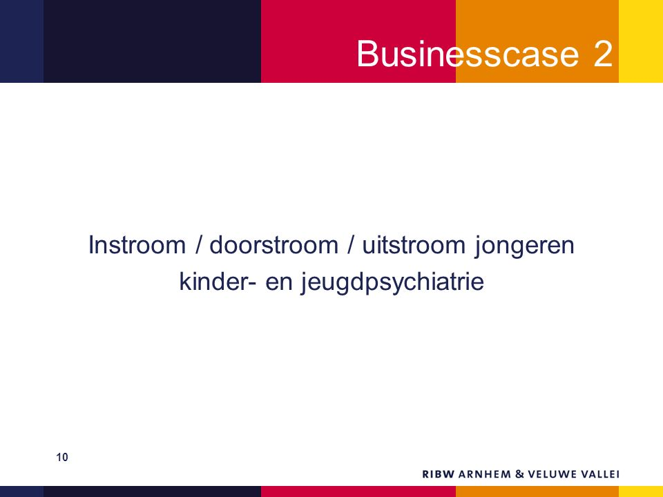 Businesscase 2 Instroom / doorstroom / uitstroom jongeren