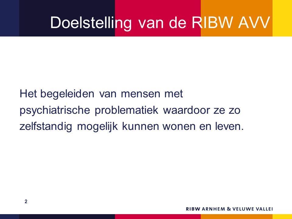 Doelstelling van de RIBW AVV