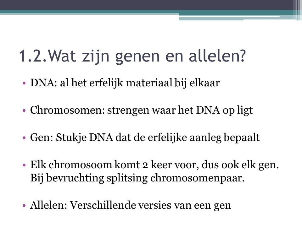 1.2.Wat zijn genen en allelen