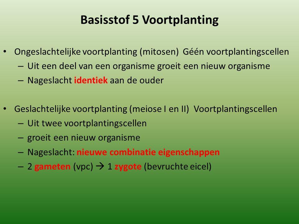 Basisstof 5 Voortplanting