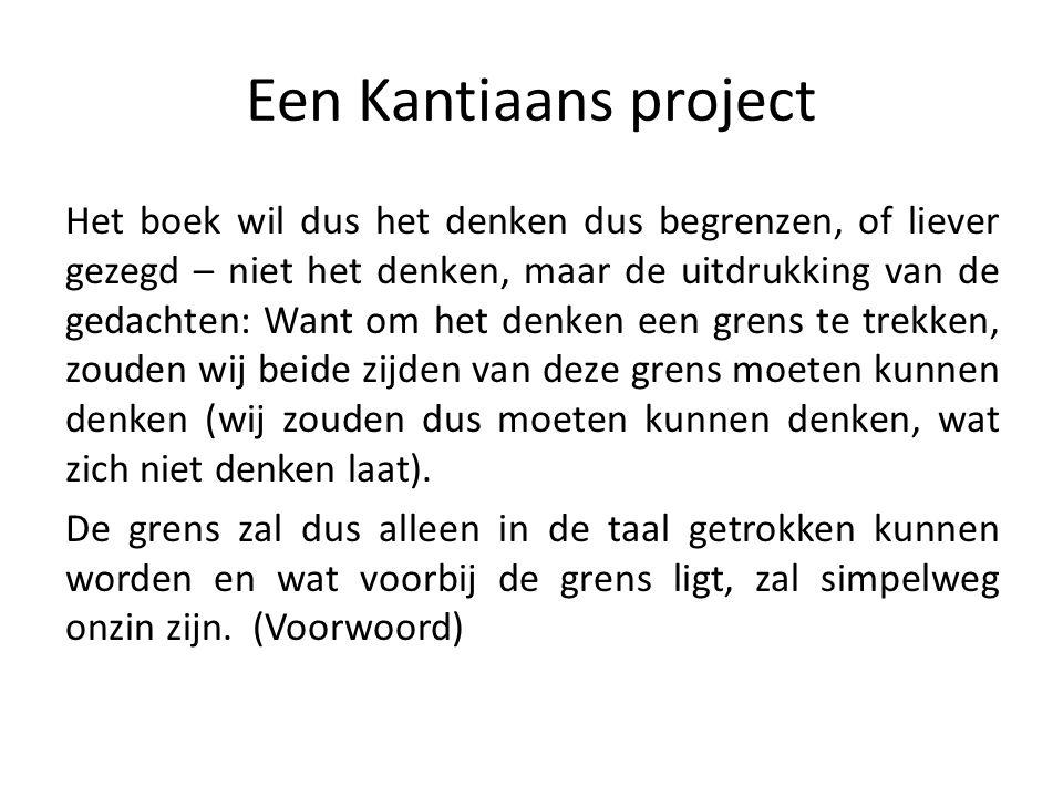 Een Kantiaans project