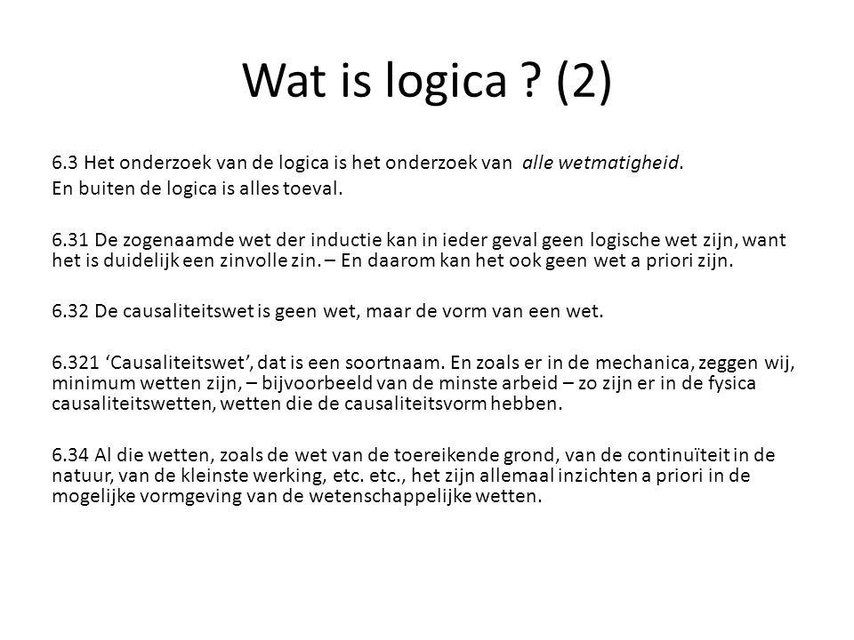 Wat is logica (2)